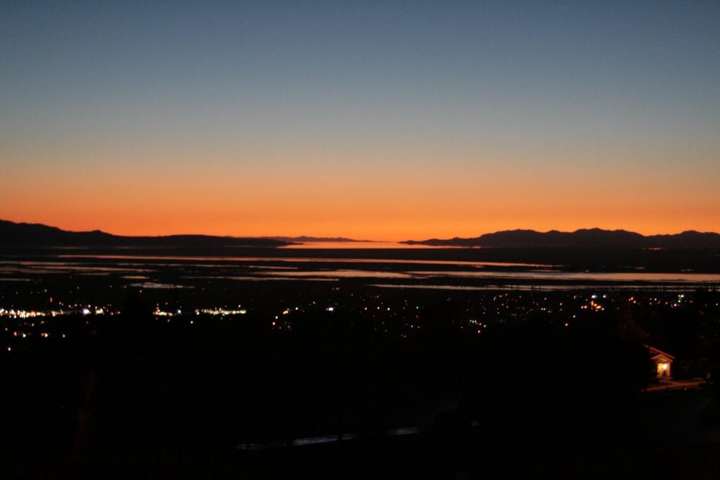 Sunset over Bountiful
