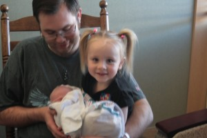 Alana Lyn with Dad and Sister